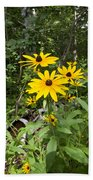 Brown-eyed Susan In The Woods Beach Towel by Gary Eason