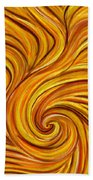 Brown Swirl Beach Towel