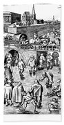 Bruegel: Ice Skaters Beach Towel