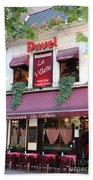 Brussels - Restaurant La Villette With Trees Beach Towel by Carol Groenen