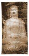 Buddha And Ancient Tree Beach Towel