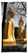 Buddha In The Jungle Beach Towel by Adrian Evans
