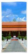 Buddhist Temple In Houston Beach Towel