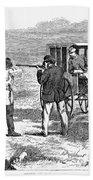 Buffalo Hunting, 1874 Beach Towel