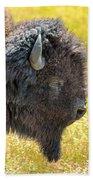Buffalo Portrait Beach Towel