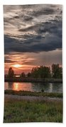Buffalo Sunset 14390 Beach Towel