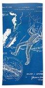 Bulletproof Patent Artwork 1968 Figures 16 To 17 Beach Towel