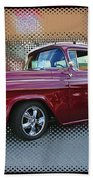 Burgundy Hot Rod Pick Up Abstract Beach Towel