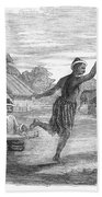 Burma: Dance, 1853 Beach Towel