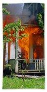 Burning House Beach Sheet