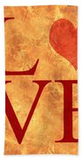 Burning Love Beach Towel