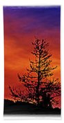 Burning Sunrise Beach Towel