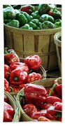 Bushels Of Green And Red Beach Towel