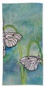 Butterflies Hanging Out Beach Towel