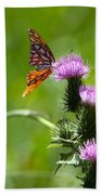 Butterflies On Thistles Beach Towel