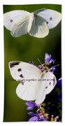 Butterfly - Cabbage White - As One Beach Towel