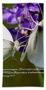 Butterfly - Dueteronomy 31 6 Beach Towel