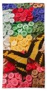 Butterfly And Buttons Beach Sheet