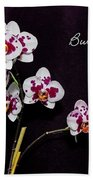 Butterfly Orchid Beach Towel