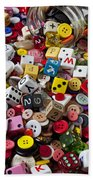 Buttons And Dice Beach Towel