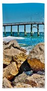 By The Pier Beach Towel by Betsy Knapp