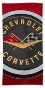 C1 Corvette Emblem Beach Towel