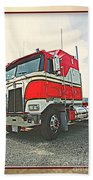 Cab-over Kenworth Beach Towel