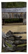 Cable Mill Barn In Cade's Cove No.122 Beach Towel