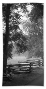 Cades Cove Tennessee In Black And White Beach Towel
