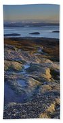 Cadillac Mountain And Frenchman's Bay Beach Towel