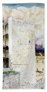 Cagliari - Torre Dell'elefante Beach Towel