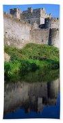 Cahir Castle, River Suir, County Beach Towel