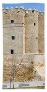 Calahorra Tower In Cordoba Beach Towel