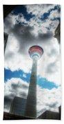 Calgary Tower Hdr Beach Towel