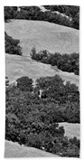 California Hillside Oaks Beach Towel
