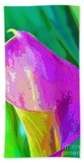 Calla Lily Art  Beach Towel