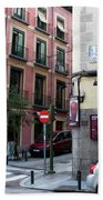 Calle De Vergara Madrid Beach Towel