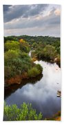 Calm River Beach Towel by Carlos Caetano
