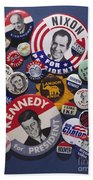 Campaign Buttons Beach Towel