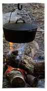 Campfire Cooking Beach Towel by David Lee Thompson