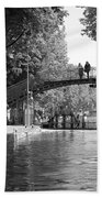 Canal Of St. Martin Bw Beach Towel