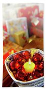 Candle And Balls Beach Towel