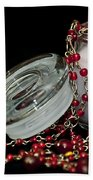 Candle And Beads Beach Towel by Carolyn Marshall