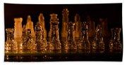 Candle Lit Chess Men Beach Sheet