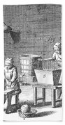 Candlemaking, 18th Century Beach Towel