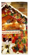 Candy Gingerbread House Beach Towel