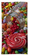 Candy Jar Spilling Candy Beach Towel