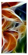 Candy Lily Fractal Panel 3 Beach Towel