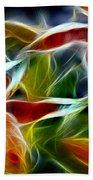 Candy Lily Fractal  Beach Towel by Peter Piatt