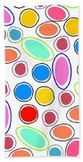 Candy Spots Beach Towel by Louisa Knight